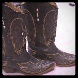 Corral Angel Wing Cross Cowgirl Boots